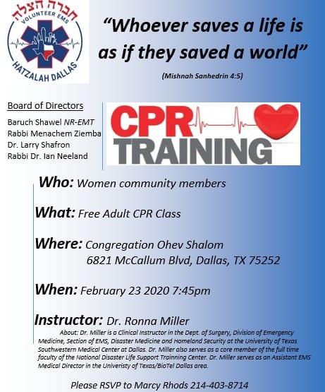 Hatzalah Dallas CPR Training 1
