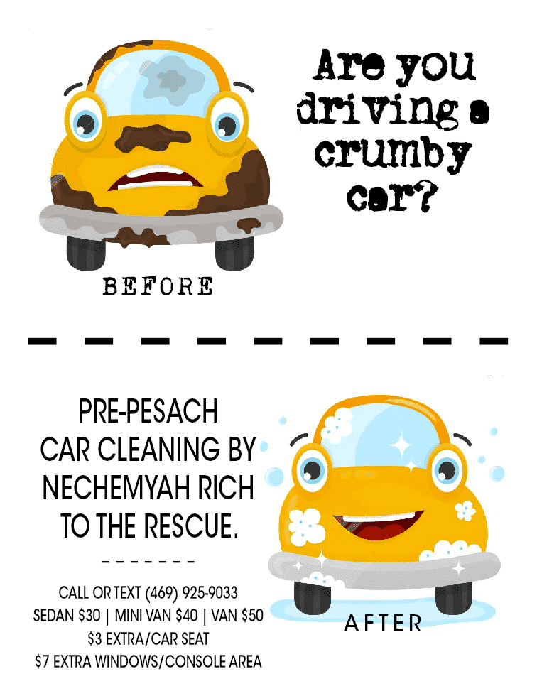 Are You Driving a Crumby Car? Pre-Pesach Car Cleaning 1