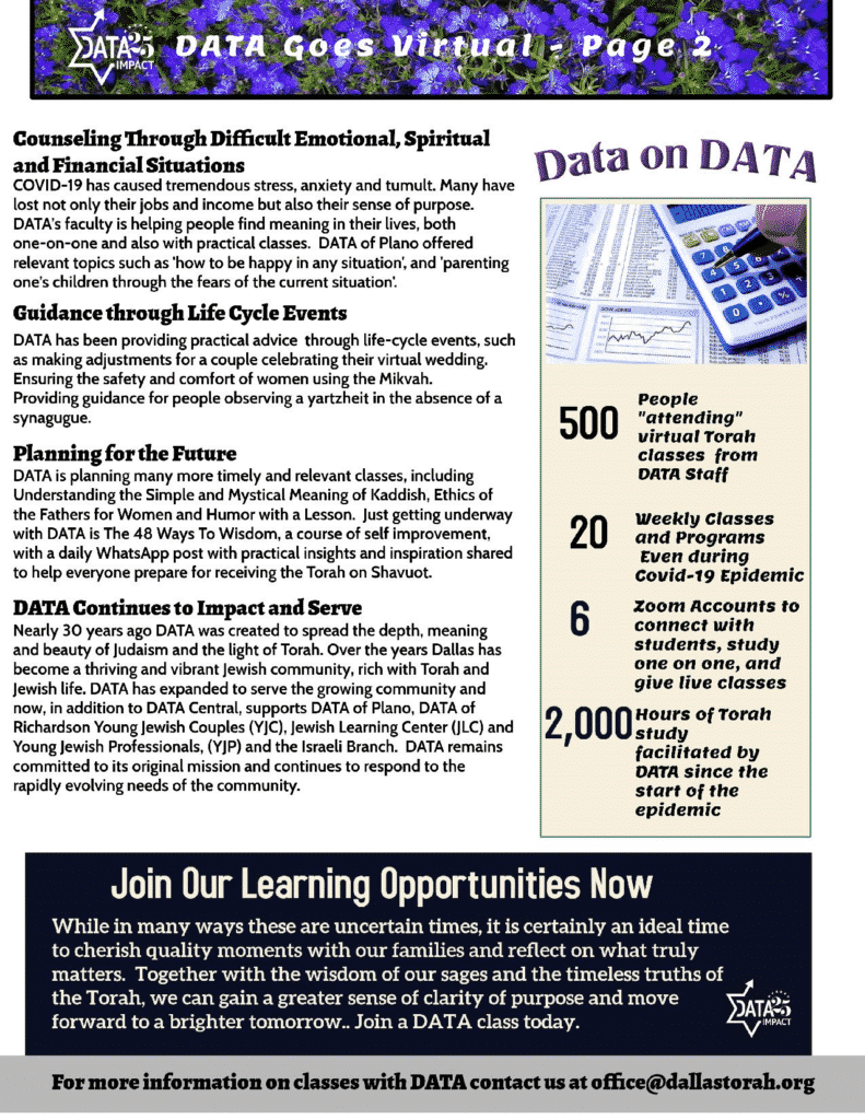 DATA Goes Virtual: Spring 2020 2