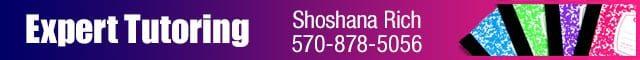 Expert Tutoring by Shoshana Rich 1